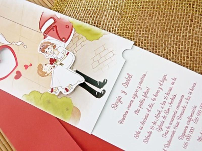 Invitación de boda cadnovel Ref.32708 Impresión GRATIS