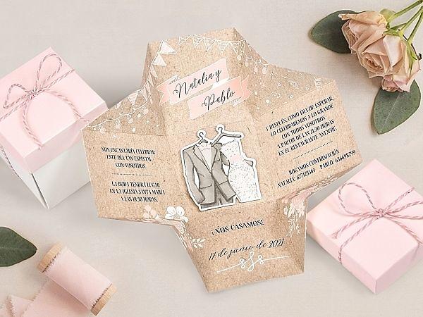 Invitación de boda caja 39720