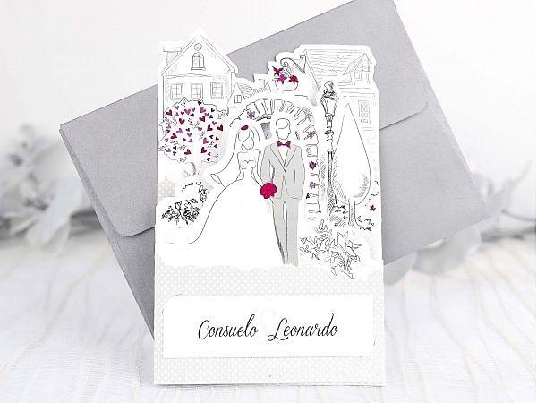 Invitación de boda cardnovel 39238