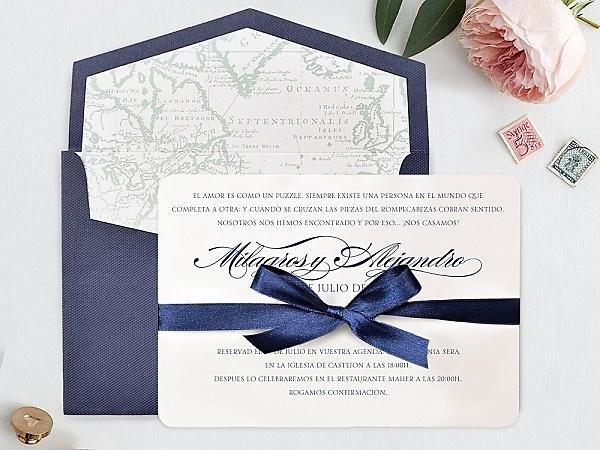 Invitación de boda cardnovel 39709