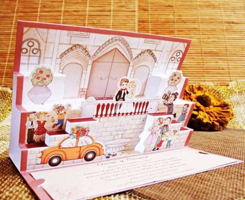 Invitación de boda cardnovel Ref.32416 Impresión GRATIS