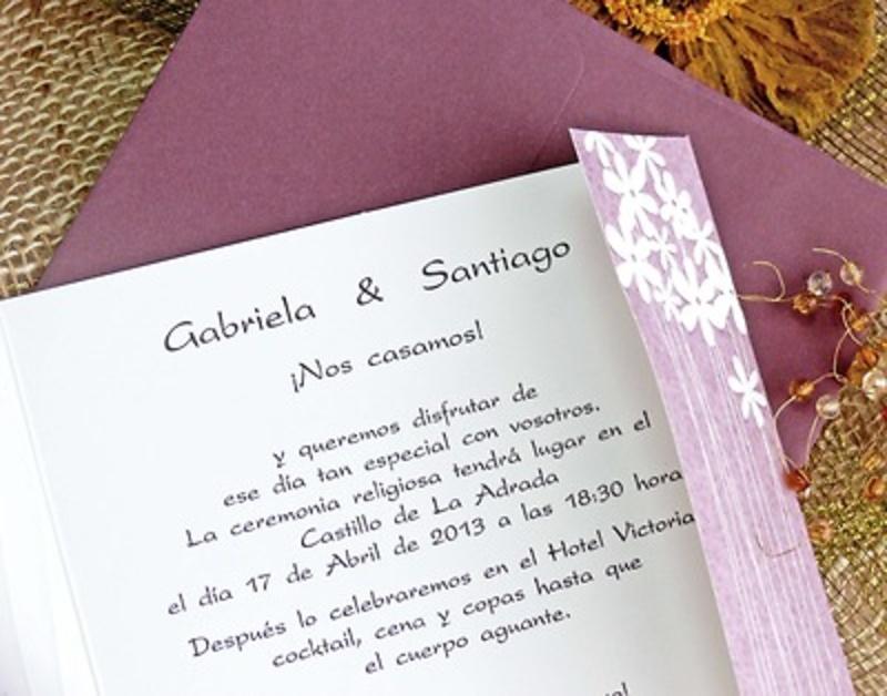 Invitación de boda cardnovel Ref.32717 Impresión GRATIS