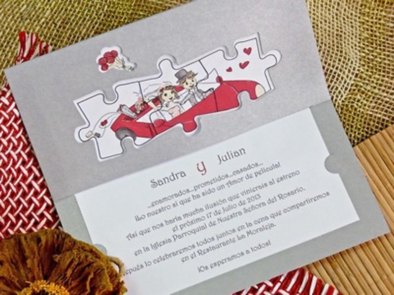 Invitación de boda cardnovel Ref.32759 Impresión GRATIS
