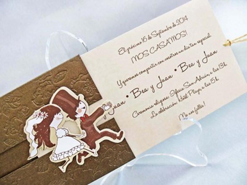 Invitación de boda cardnovel Ref.32802 IMPRESION GRATIS