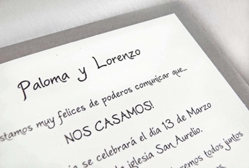 Invitación de boda cardnovel Ref.32813 IMPRESION GRATIS