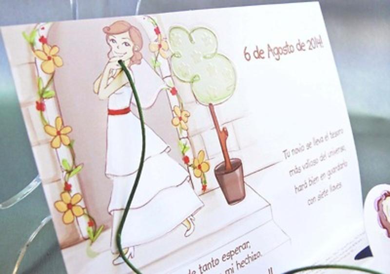 Invitación de boda cardnovel Ref.32820 IMPRESION GRATIS