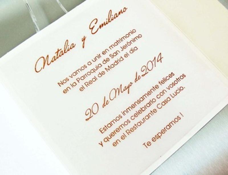 Invitación de boda cardnovel Ref.32824 IMPRESION GRATIS