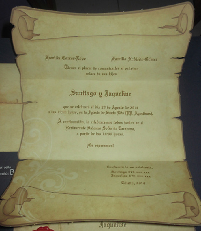 Invitación de boda cardnovel Ref.328292 Impresión GRATIS