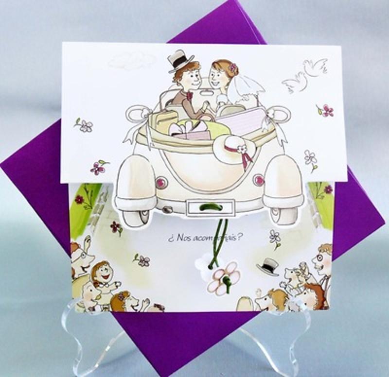 Invitación de boda cardnovel Ref.33509 IMPRESION GRATIS
