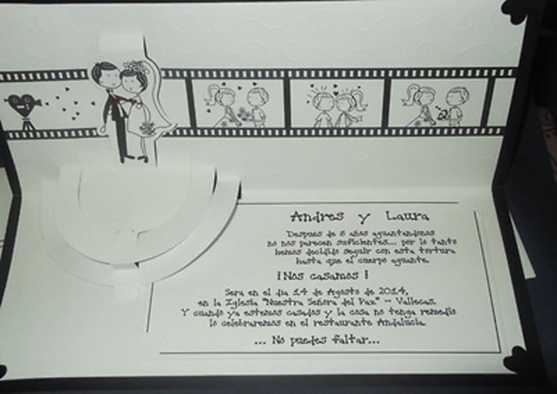 Invitación de boda cardnovel Ref.50608 Impresión GRATIS
