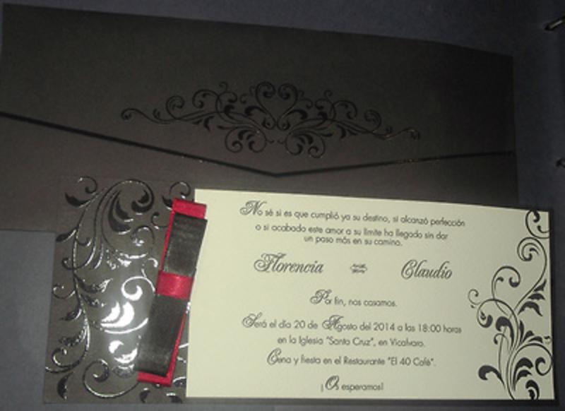Invitación de boda cardnovel Ref.50639 Impresión GRATIS
