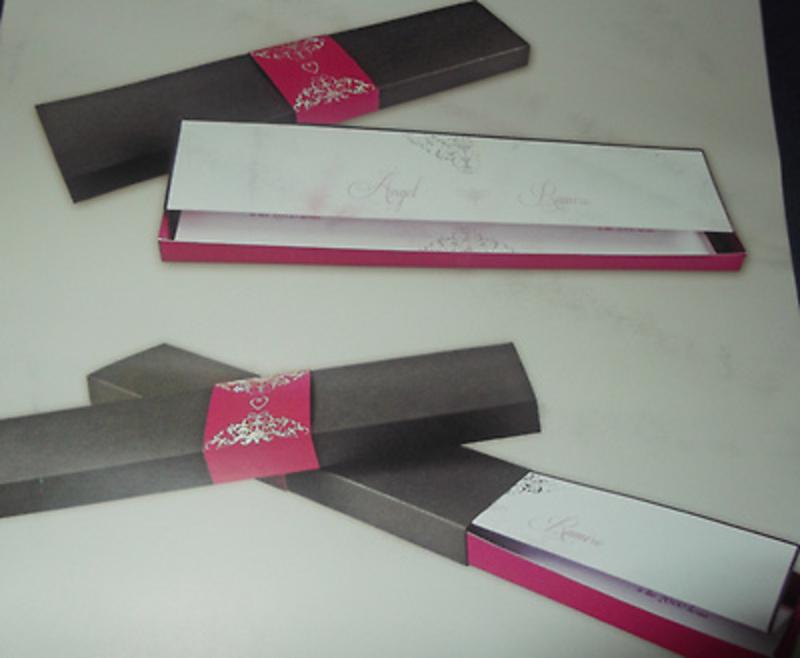 Invitación de boda cardnovel caja Ref.50645 Impresión GRATIS