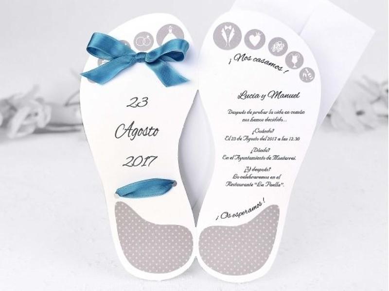Invitación de boda cardnovel ref.39118.