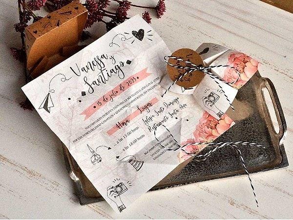 Invitación de boda comecocos 39824