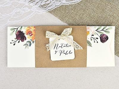 Invitación de boda acuarelas