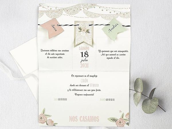 Invitación de boda fiesta 39730
