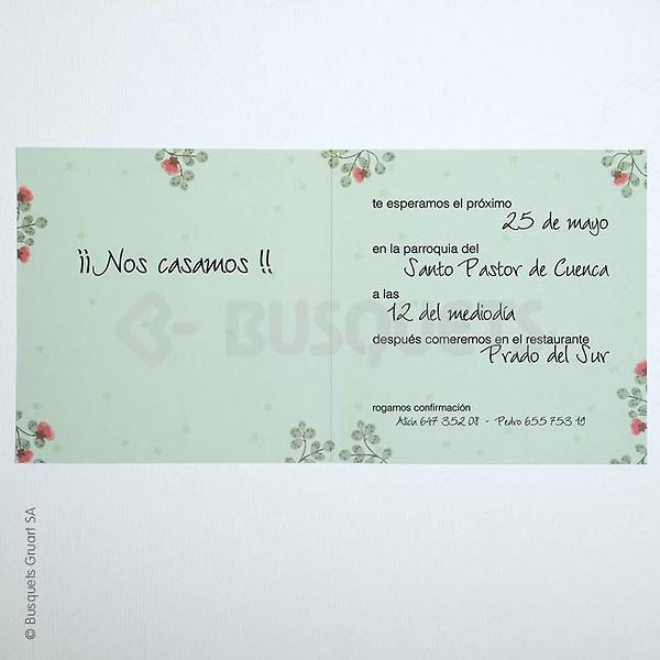 Invitación de boda floral ref.18932