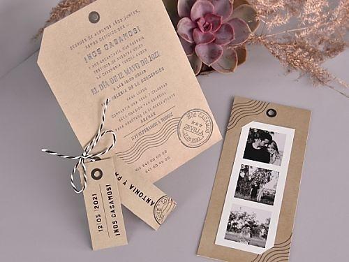 Invitación de boda fotomatón 39731