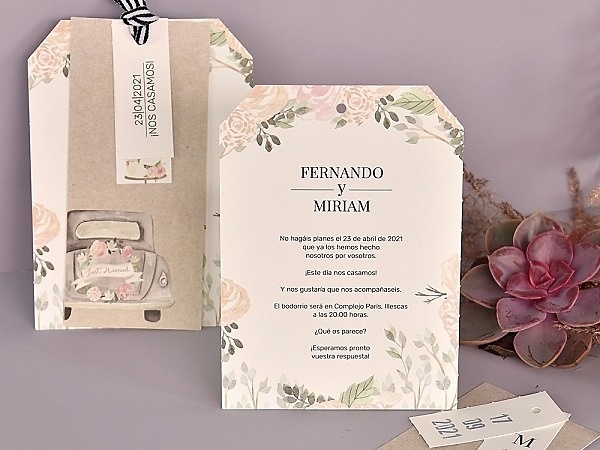 Invitación de boda just married 39727