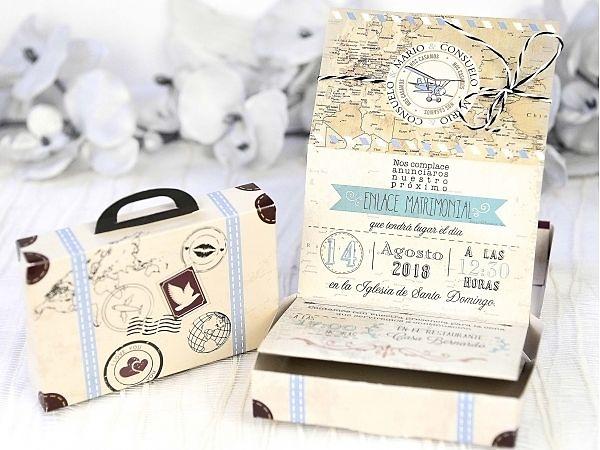 Invitación de boda maleta 39223