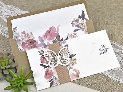 Invitación de boda mariposa 39611