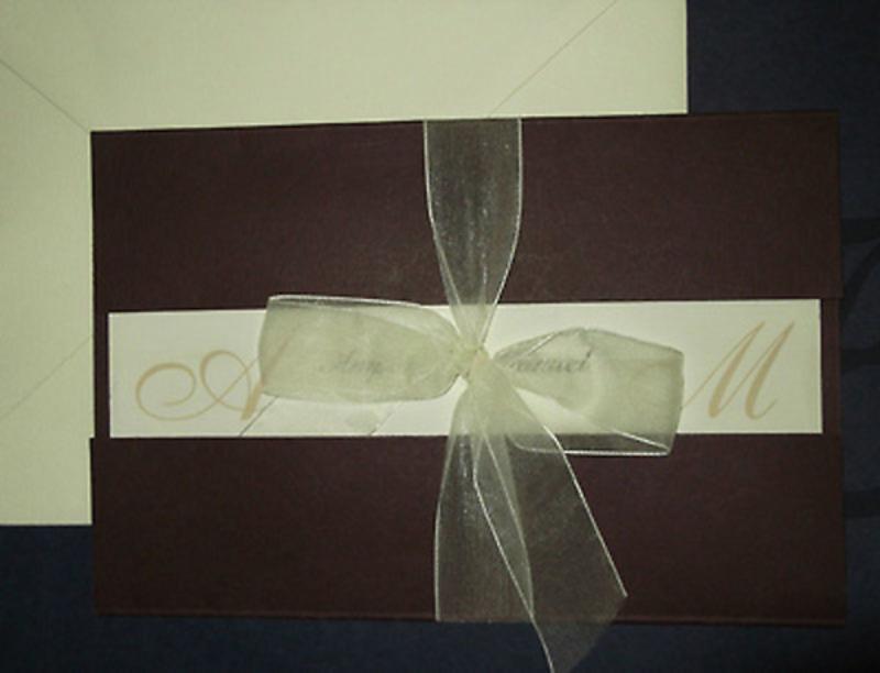 Invitación de boda marrón Ref.10018 Impresión GRATIS