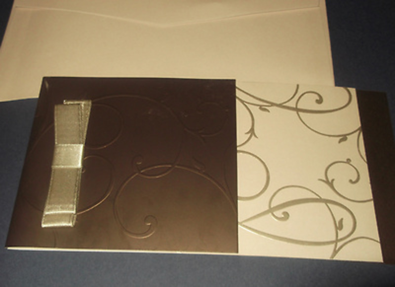 Invitación de boda oro y beis Ref.707411 Impresión GRATIS