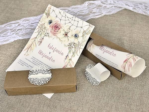 Invitación de boda pergamino 39608
