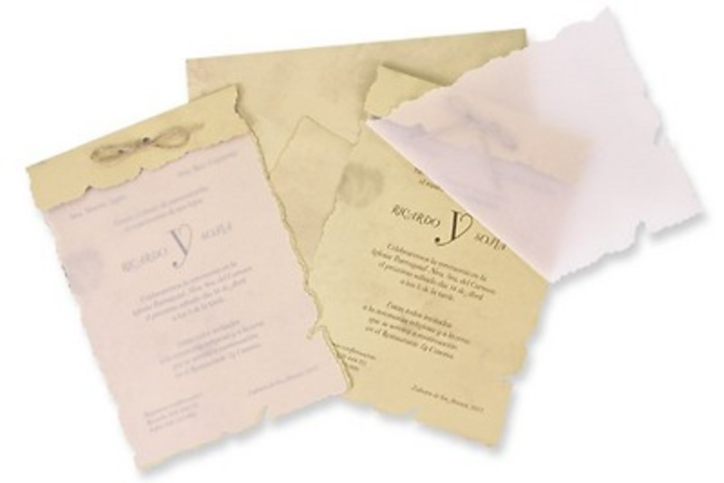 Invitación de boda pergamino Ref.100238 Impresión GRATIS