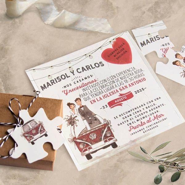 Invitación de boda puzzle 39808