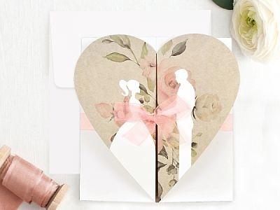 Invitación de boda romántica 39705