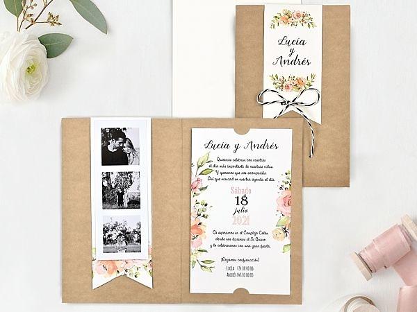 Invitación de boda vintage fotos 39732