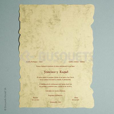 Invitación medieval Ref. 07780 Impresión GRATIS