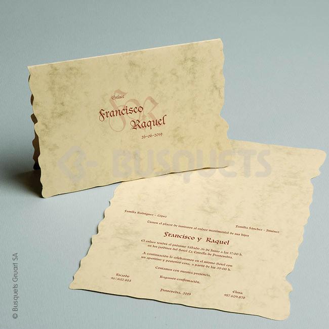 Invitación Ref. 07780 Impresión GRATIS