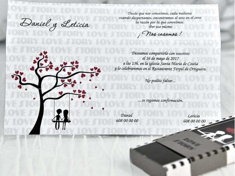 Invitaciones de boda Cardnovel ref.39116.
