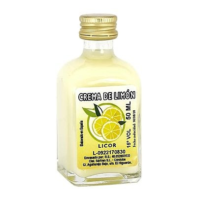 Miniatura de licor de crema de limón