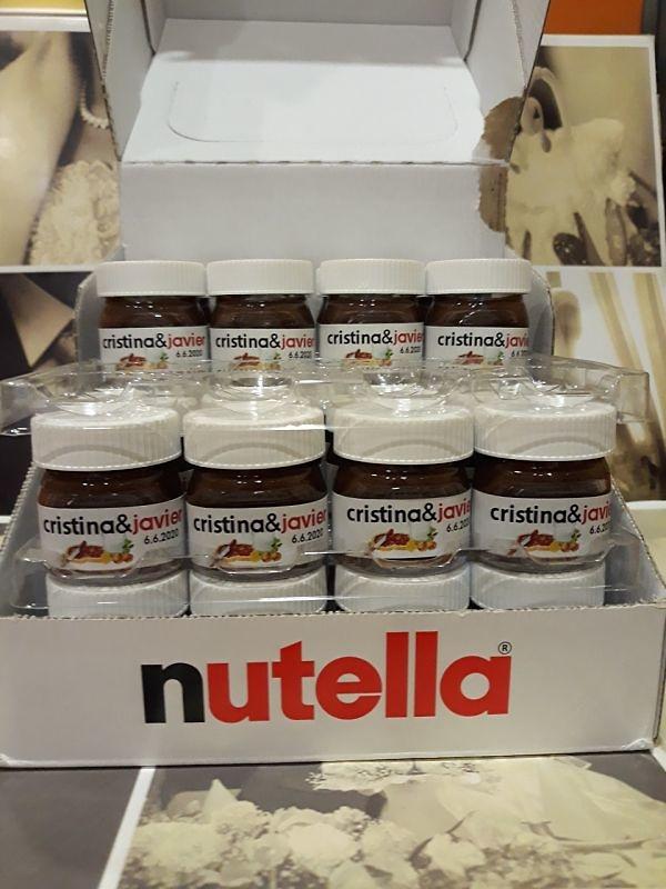 Nutella mini 25grs para boda