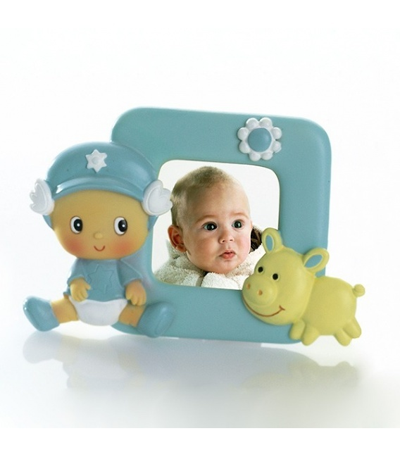 Portafotos bebé gorrita alas