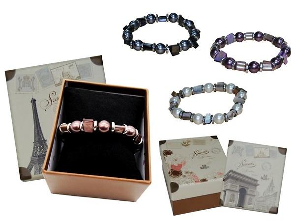 Pulsera perlas colores en caja Ref.PC22 ETIQUETAS GRATIS