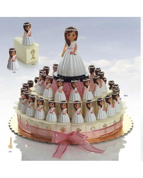 Regalo de comunión tarta niña rosa Ref.8652