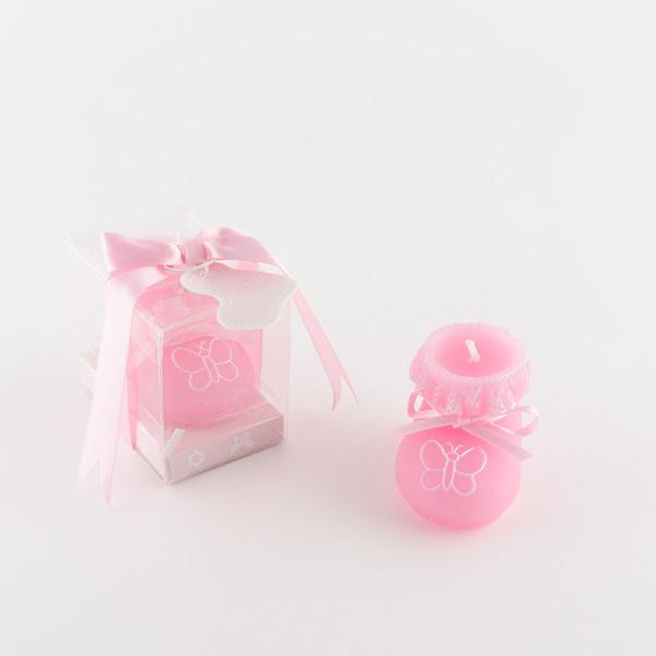 Vela patuco rosa niña ref.1401