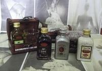 Detalle de boda baúl, licor y vaso Ref.642
