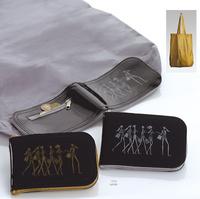 Detalle de boda bolsa plegable cartera. Etiquetas GRATIS
