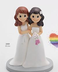 Figura pastel pareja de novias