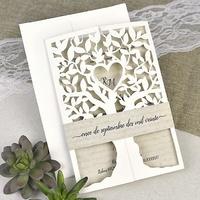 Invitación de boda árbol 39616