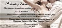 Invitación de boda Ref.22706 Impresión GRATIS