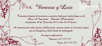 Invitación de boda Ref.22707 Impresión GRATIS