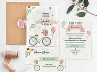 Invitación de boda bicycle 39737