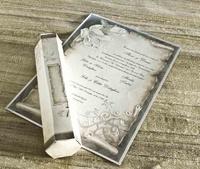 Invitación de boda cardnovel pergamino REF30109 Impresión GRATIS