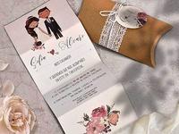 Invitación de boda en caja  39801